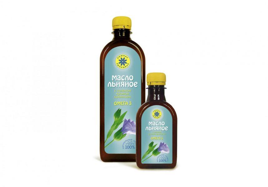 льняное масло в бутылочке